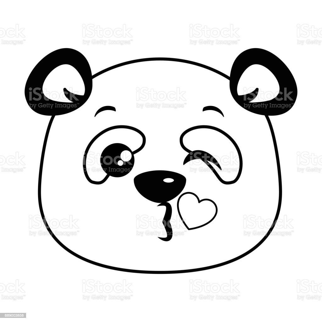 Vetores De Panda Bonito Emoji Adorável Kawaii E Mais Imagens