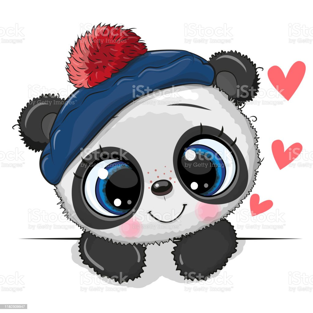 Cute Panda On A White Background Stock Illustration Download Image Now Istock