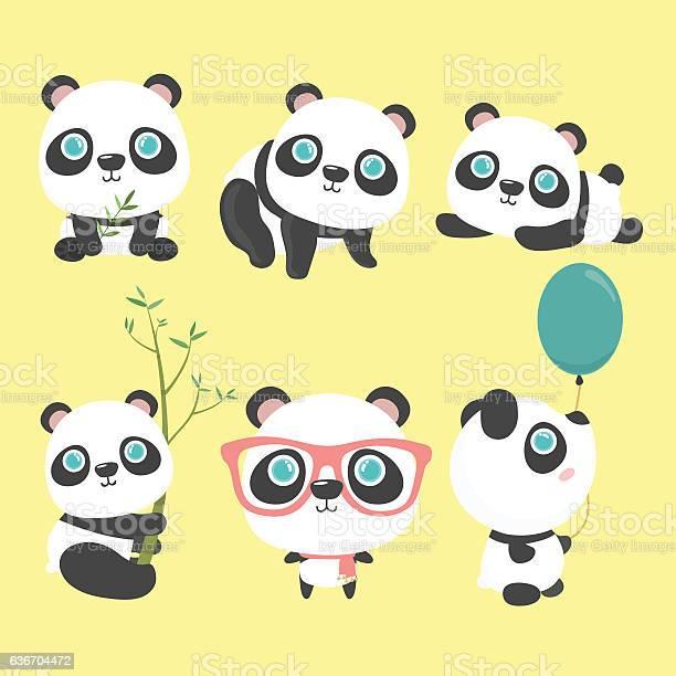 Cute panda set vector id636704472?b=1&k=6&m=636704472&s=612x612&h=okfnhofe6x9hsxr0f7snra2nh ylksihhnoyogjyyey=