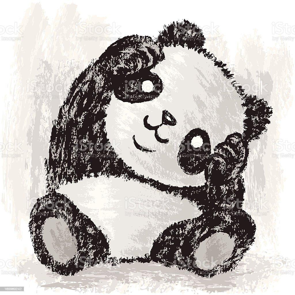 Cute Panda vector art illustration