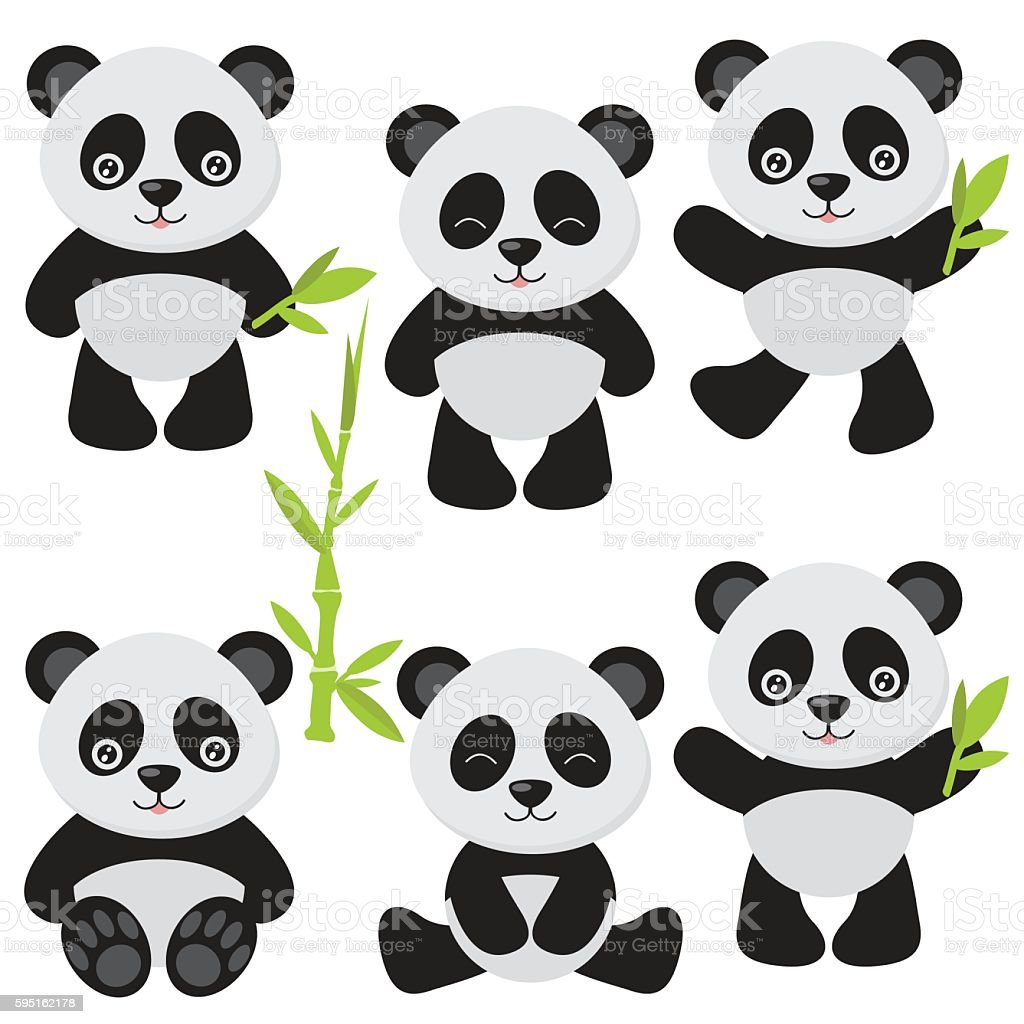 Cute Panda Vector Illustration Royalty Free Stock Art Amp