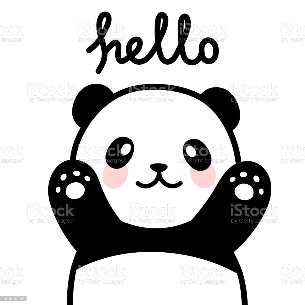 cute panda vector print baby shower card stock vector art more