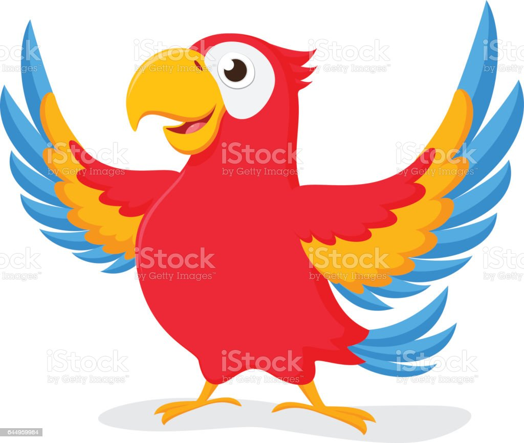 royalty free funny parrot clip art vector images illustrations rh istockphoto com parrot clipart flying parrot clipart images