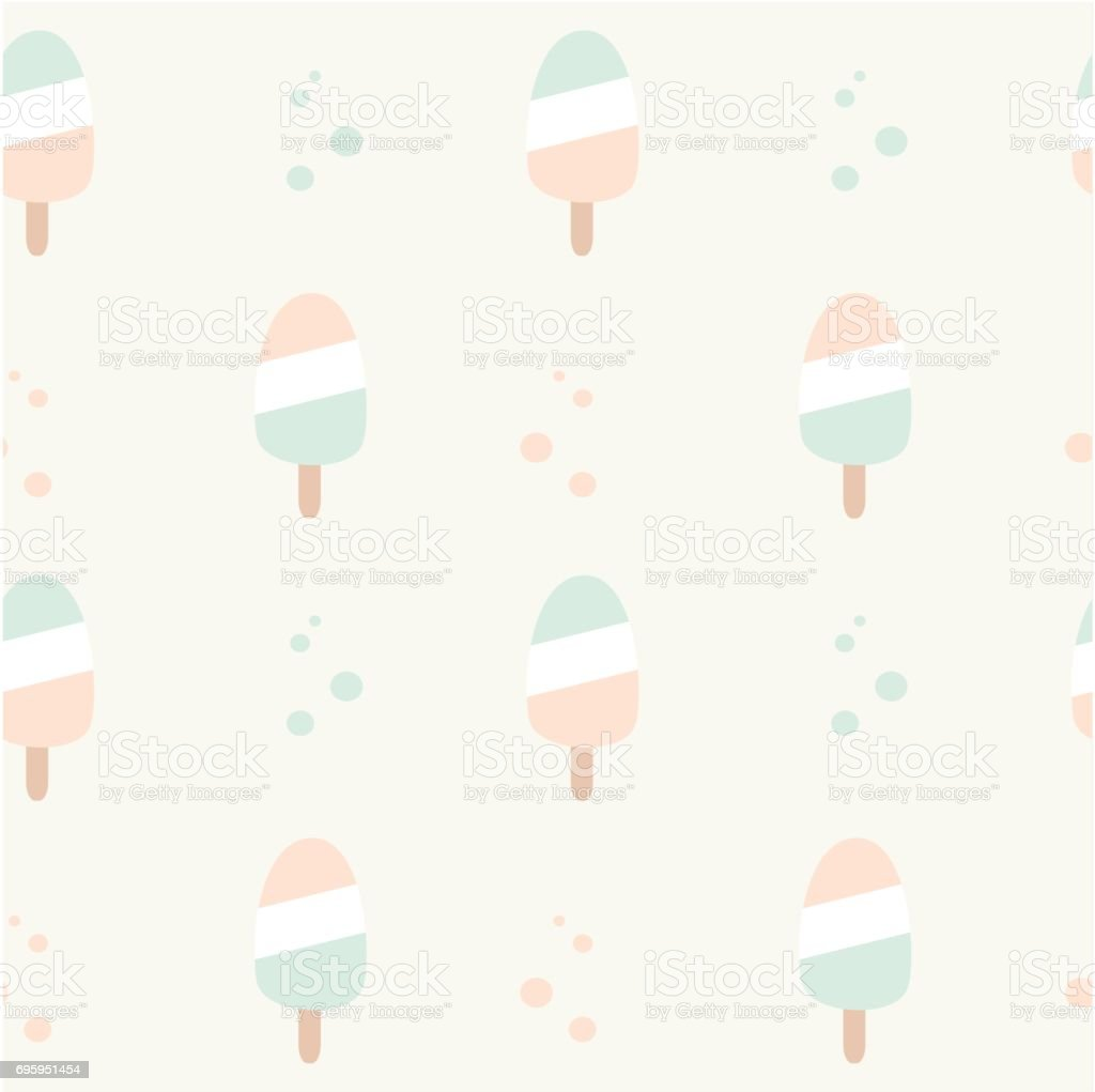 Seamless Ice Cream Wallpaper Royalty Free Stock Images: Cute Pastel Colors Ice Cream Seamless Vector Pattern