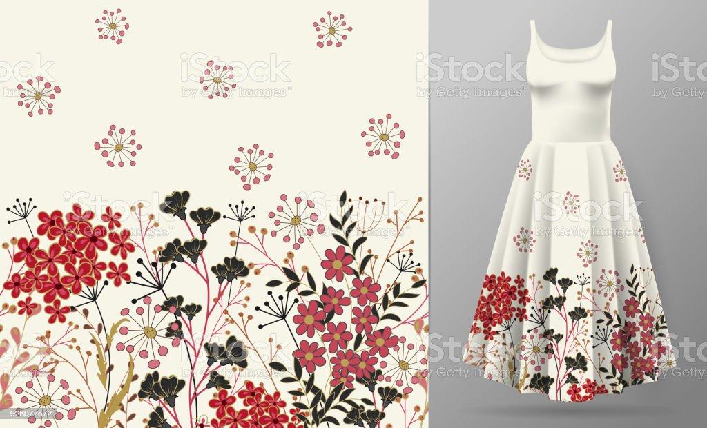 Ilustración de Patrón Lindo En Pequeñas Flores Simples Fondo ...