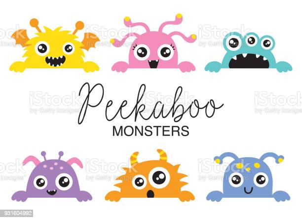 Cute peekaboo monsters vector illustration vector id931604992?b=1&k=6&m=931604992&s=612x612&h=btt3 epvr99yvr2b5bahuw hxnfgv1vt8yubjn9 wii=