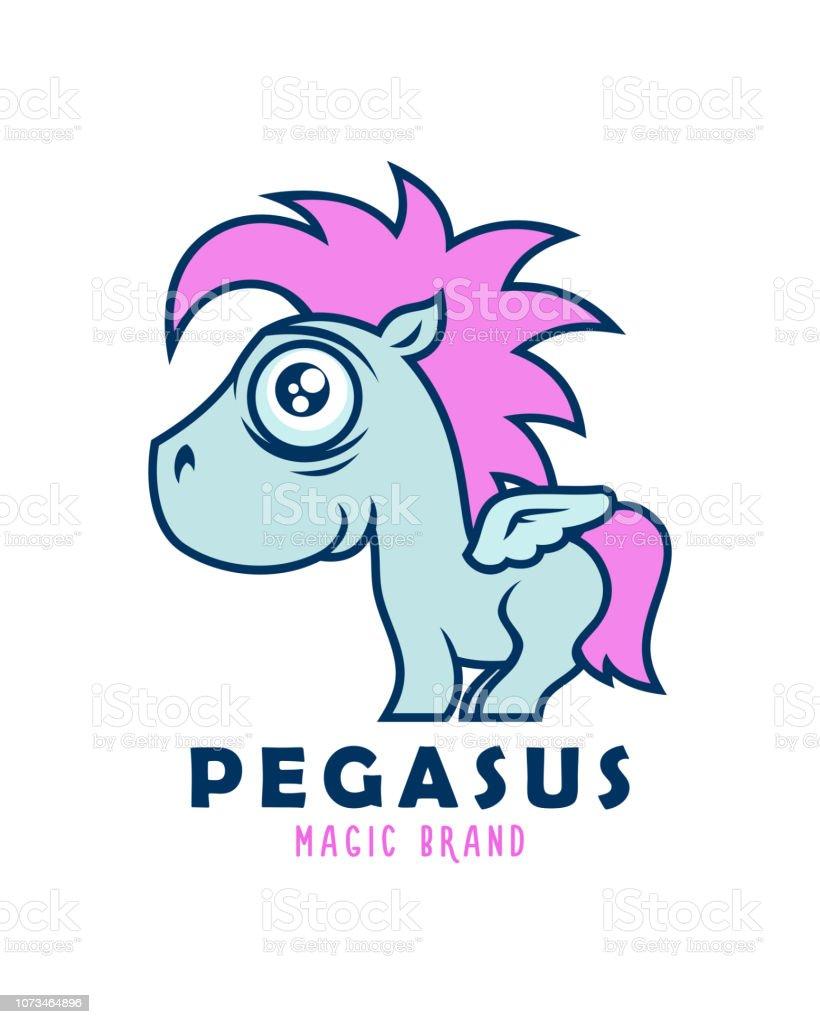 coupe classique 09d3d 6d061 Personnage De Dessin Animé De Mignon Pegasus Enfant Avec Des ...