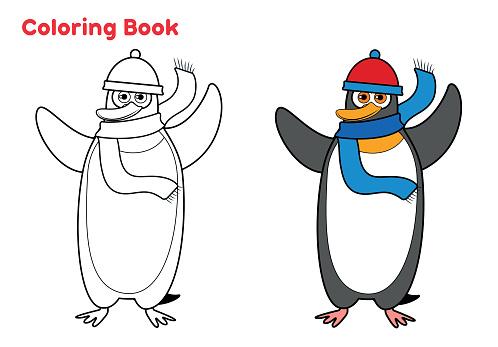 Cute Penguin coloring book