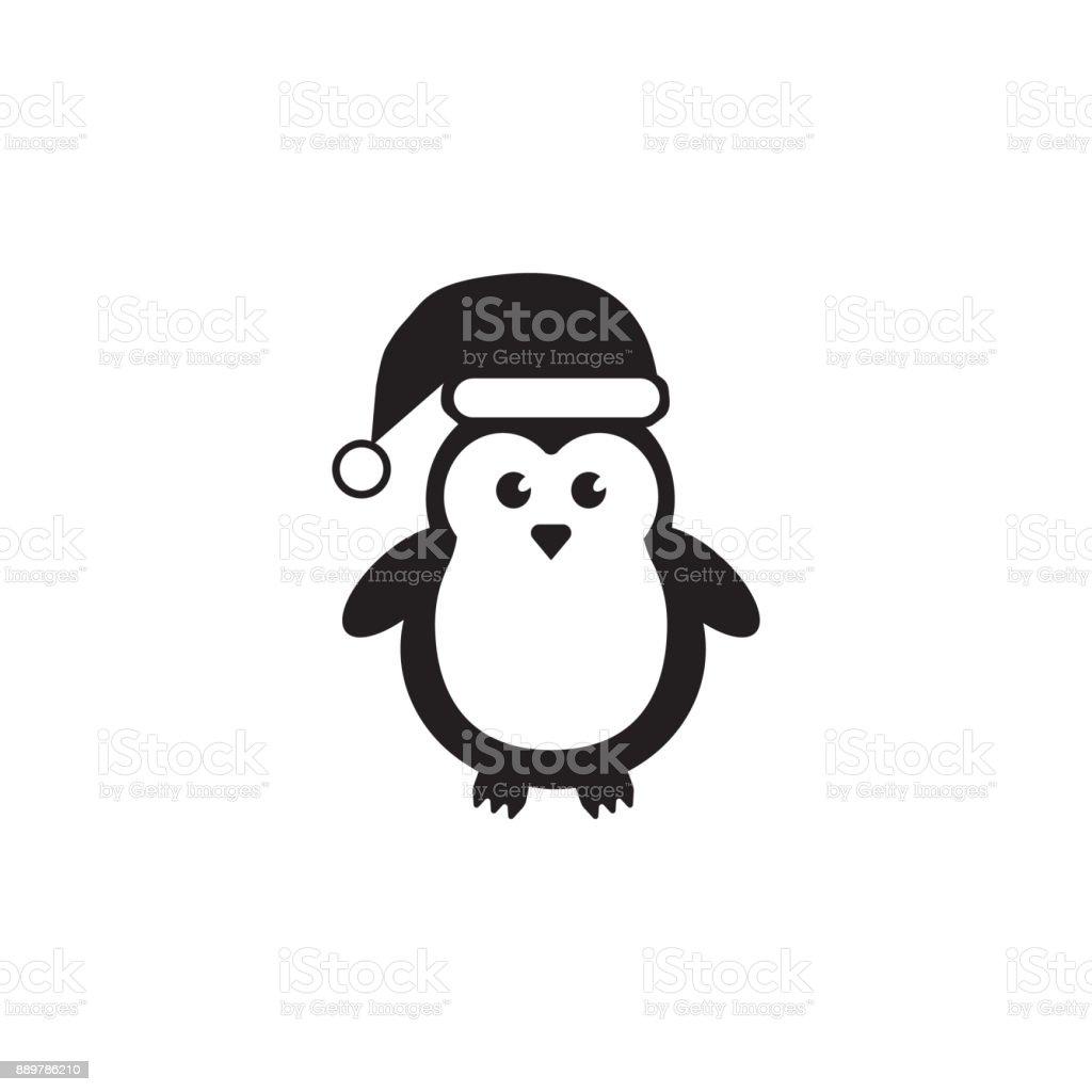 Cute penguins wearing santa claus hat icon christmas or new year cute penguins wearing santa claus hat icon christmas or new year element premium quality buycottarizona Images
