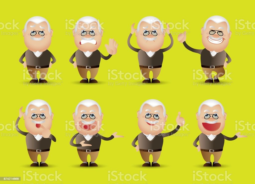 Cute People - businesspeople set vector art illustration
