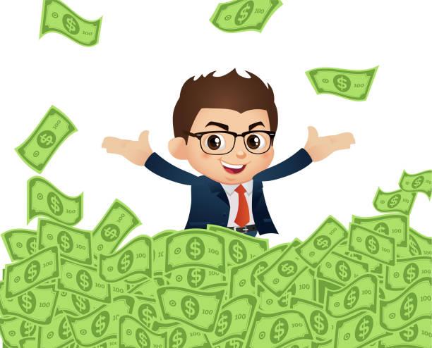 Royalty Free Million Dollar Bill Clip Art, Vector Images ...