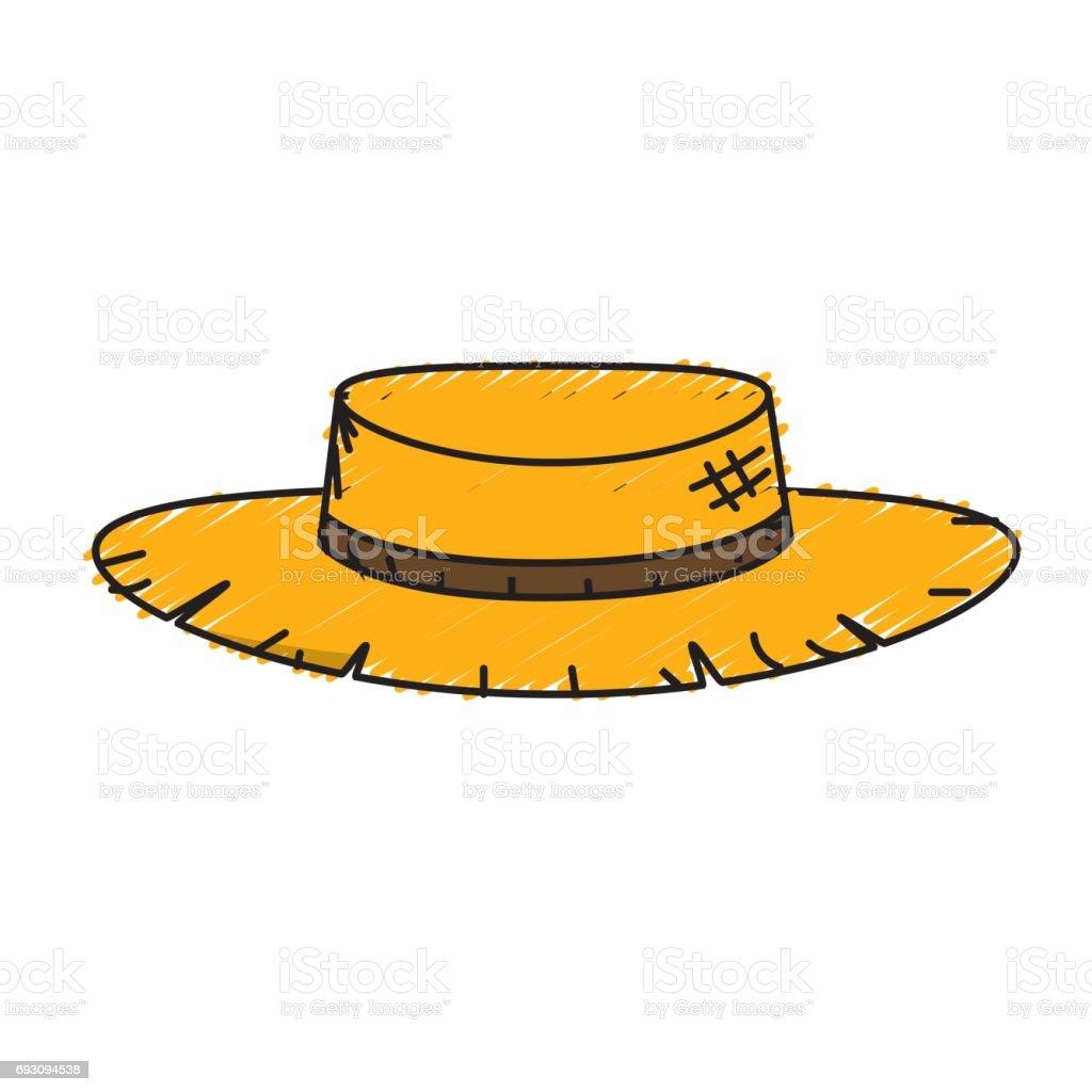 Ilustración de Perú Lindo Sombrero Para Usar En El Trabajo De La ...