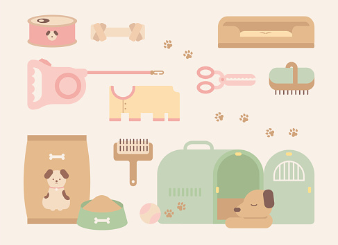 Cute pet and supplies