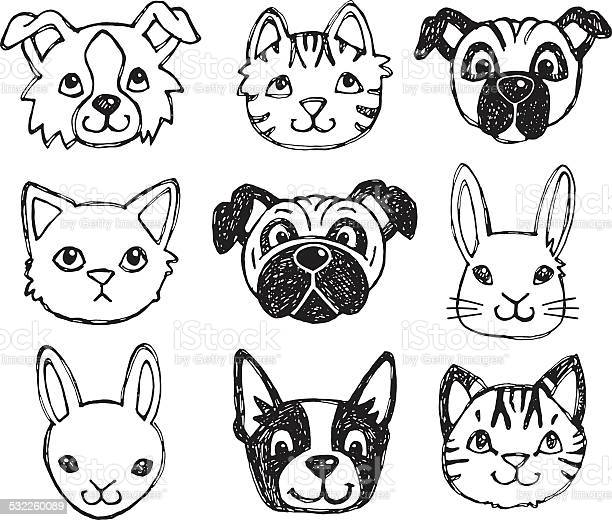 Cute pet animal faces vector id532260089?b=1&k=6&m=532260089&s=612x612&h=fypr90duvfgjd6g aozbyxxyioironiyqj0rmghuz q=