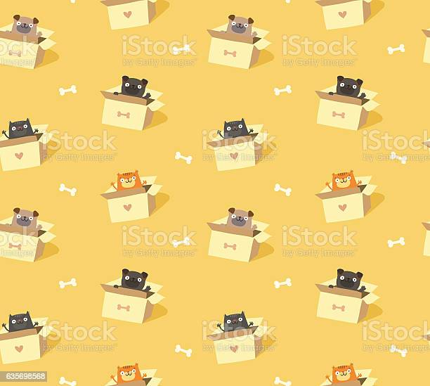 Cute pets seamless pattern cats and dogs in cardboard boxes vector id635698568?b=1&k=6&m=635698568&s=612x612&h=d7onqdirz3xc5lxvaudqohqxaie3yfcvhdemymgqzj4=