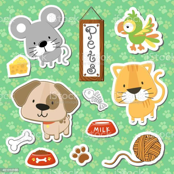 Cute pets stickers scrapbook vector id451010195?b=1&k=6&m=451010195&s=612x612&h=p5nszpvggpxzgyocdgq zmr1hpz klklqvdhyrcogdi=