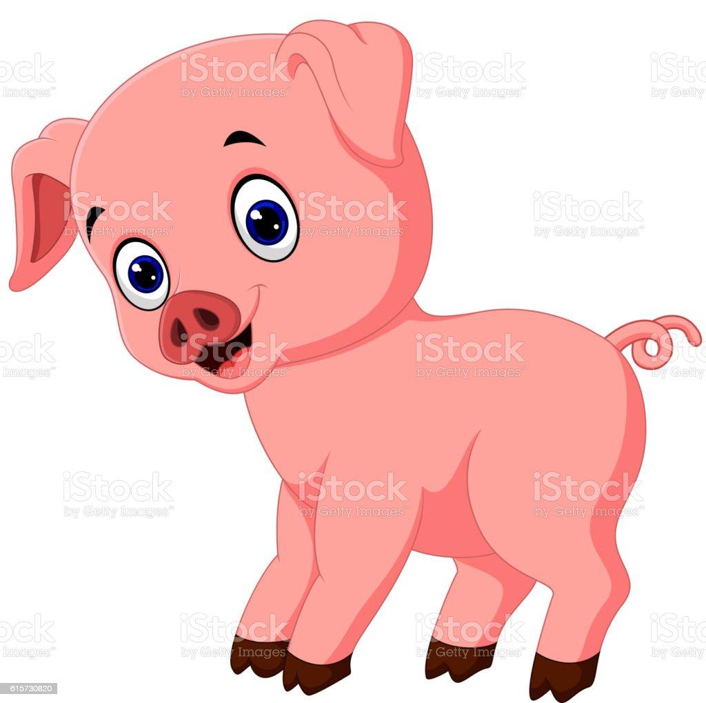 Süße Schwein Comic Posieren Stock Vektor Art und mehr Bilder von ...
