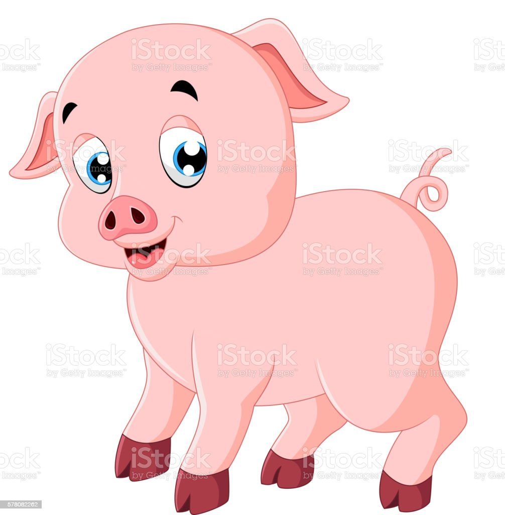 cute pig cartoon stock vector art   more images of cute pig clip art black and white cute pig clipart free