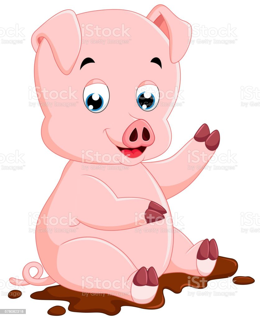 Niedliche Schwein Comic Stock Vektor Art und mehr Bilder von ...