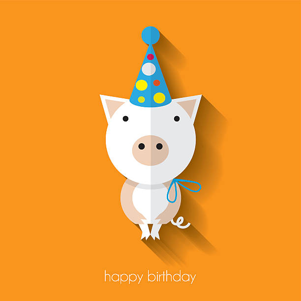 Royalty Free Birthday Card Icon Flat Graphic Design Clip Art Vector