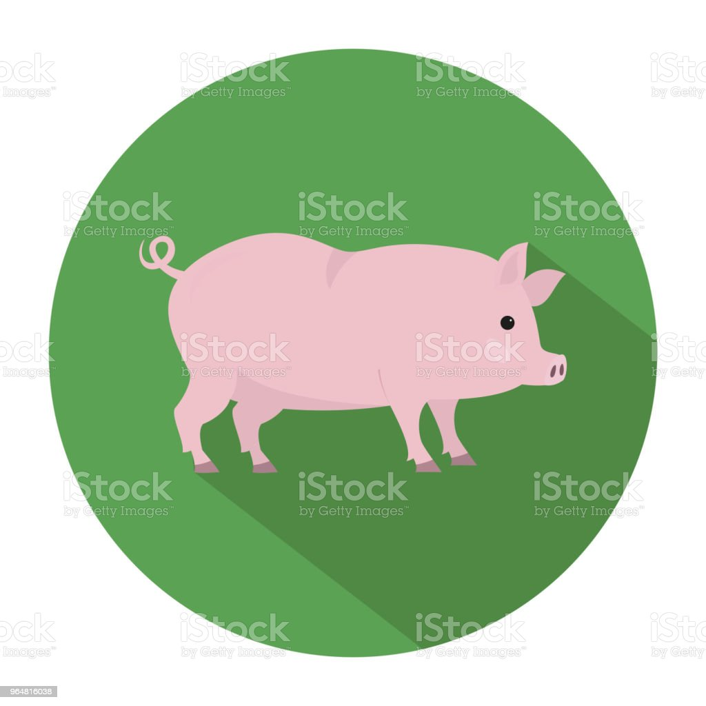 Cute pig on green background. royalty-free cute pig on green background stock vector art & more images of agriculture