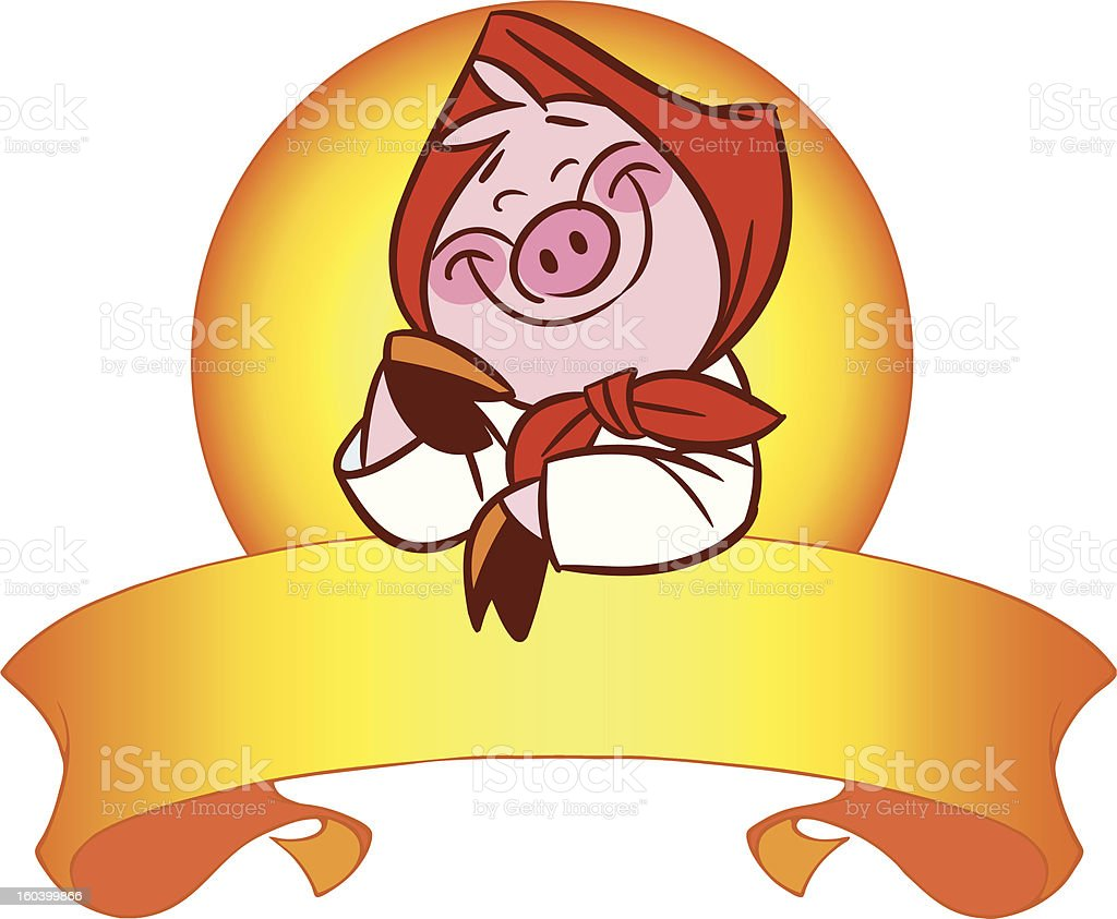cute pig royalty-free stock vector art