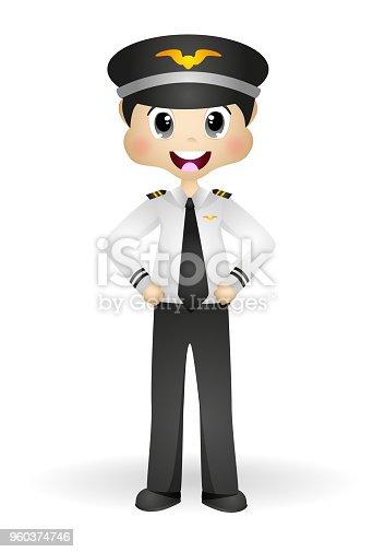 Cute Pilot in his uniform  - full color