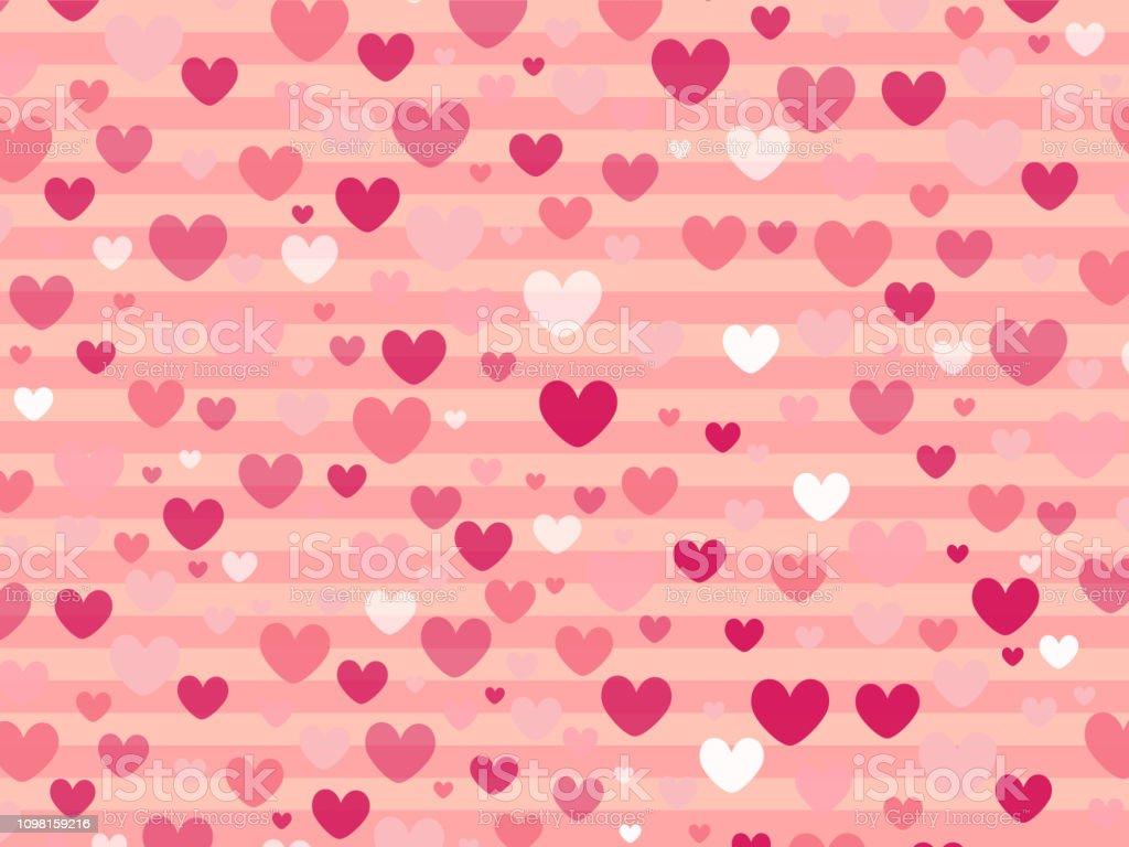 Cute Pink Gradient Color Heart Shape On Pastel Pink Color