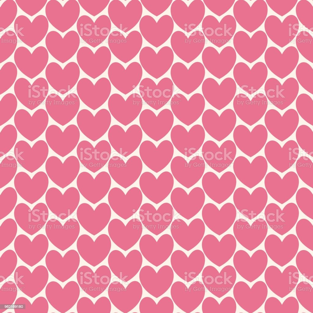 Cute Pink Heart Love Seamless Pattern For Background Wallpaper Texture Label Cover