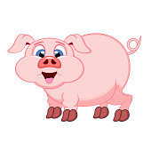 Cute pink Pig cartoon