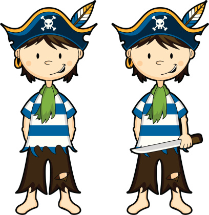 Cute Pirate Boy with & without Sword