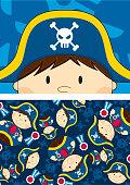 Cute Pirate Captain Graphic