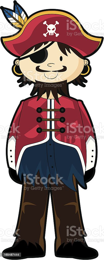 Cute Pirate Captain in Red royalty-free cute pirate captain in red stock vector art & more images of adult
