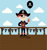 A cute pirate boy, see below for the girl version and more party and kid's images.