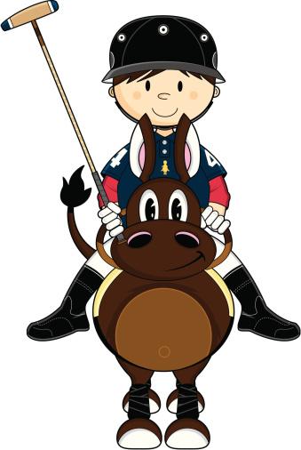 Cute Polo Player & Horse