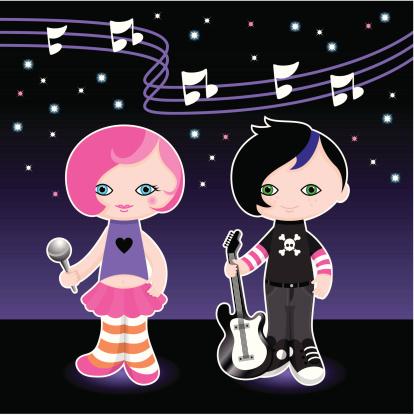 Cute popstars kids