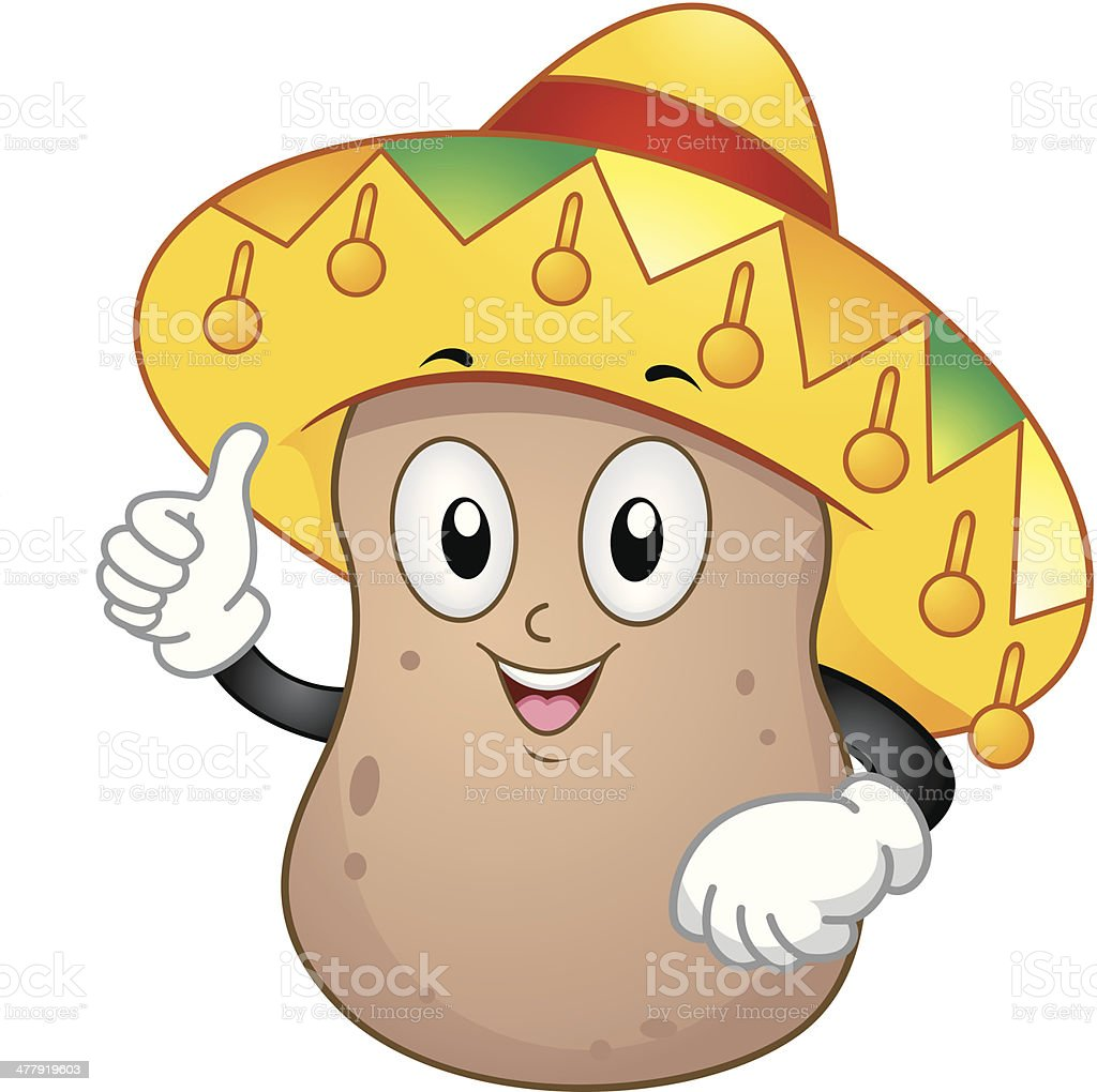 Cute Potato royalty-free stock vector art