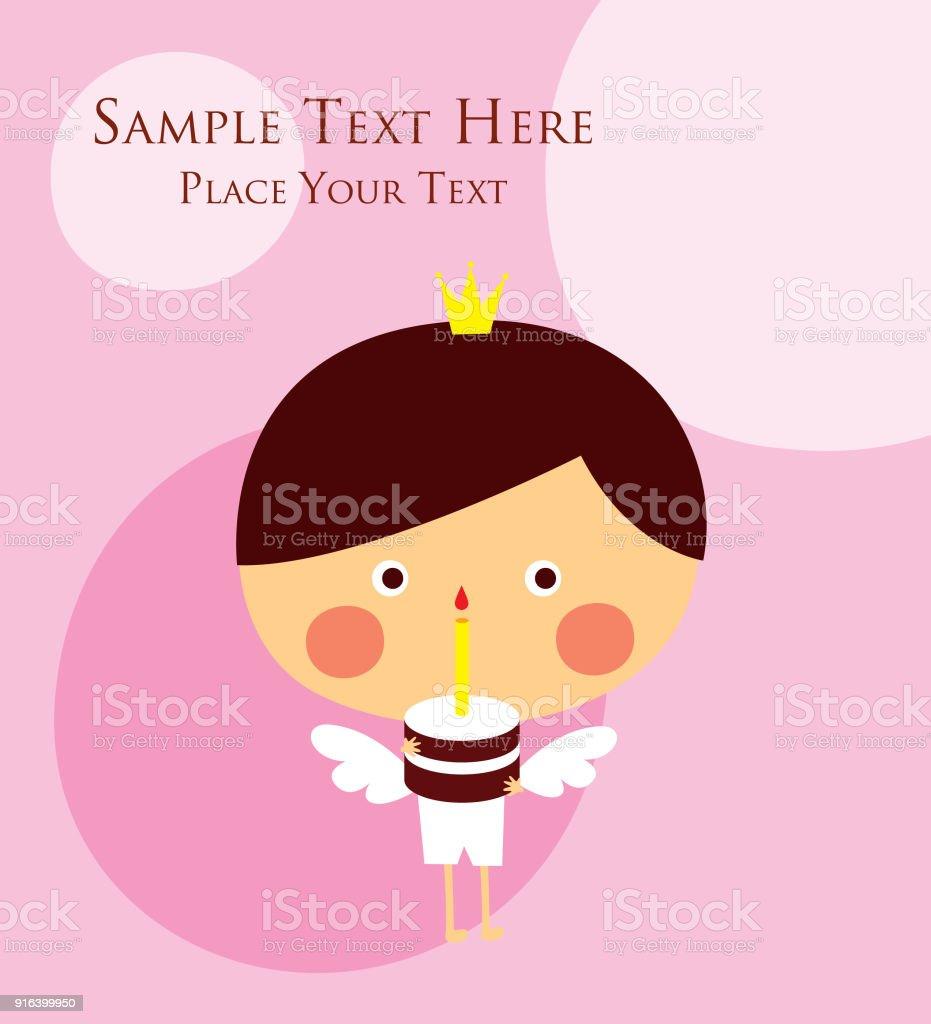Cute prince angel happy birthday greeting card vector stock vector cute prince angel happy birthday greeting card vector royalty free cute prince angel happy birthday m4hsunfo