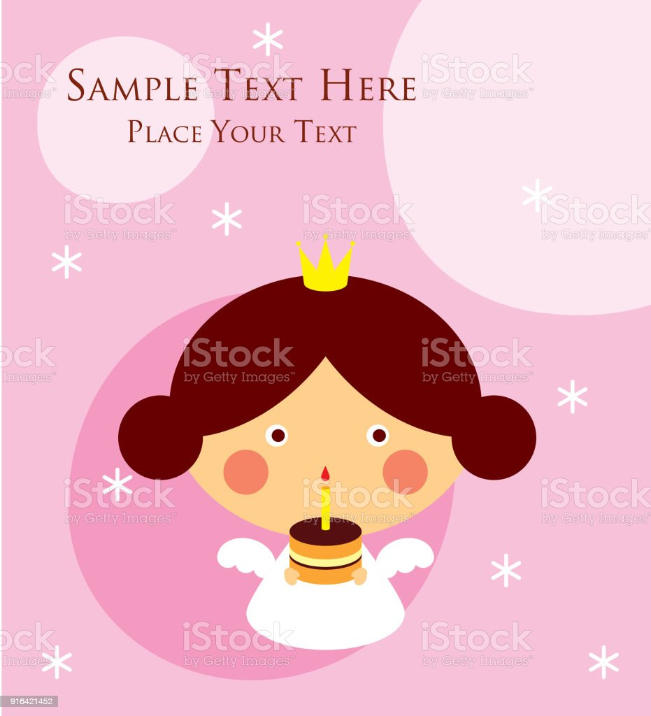 Cute princess angel happy birthday greeting card stock vector art cute princess angel happy birthday greeting card royalty free cute princess angel happy birthday greeting m4hsunfo