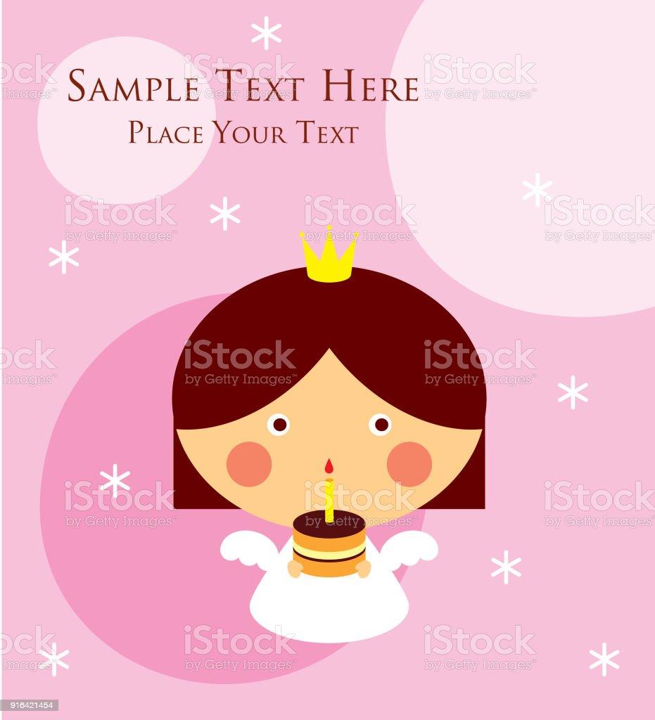 Cute princess angel happy birthday greeting card stock vector art cute princess angel happy birthday greeting card royalty free cute princess angel happy birthday greeting m4hsunfo