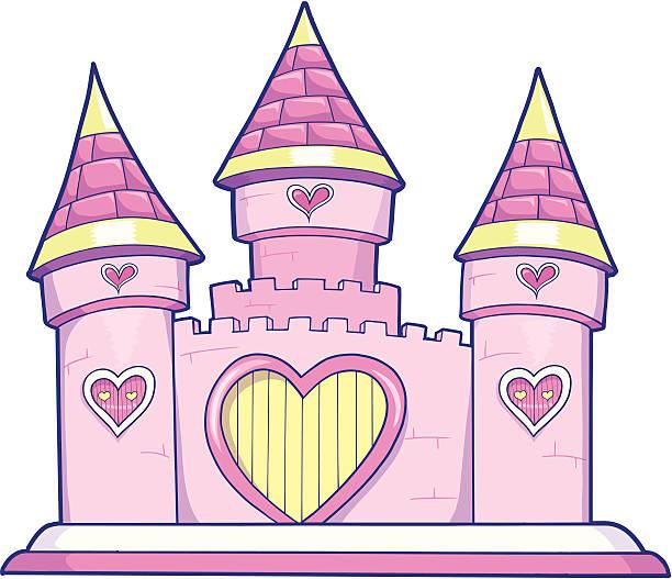 Cute Princess Castle Vector vector art illustration