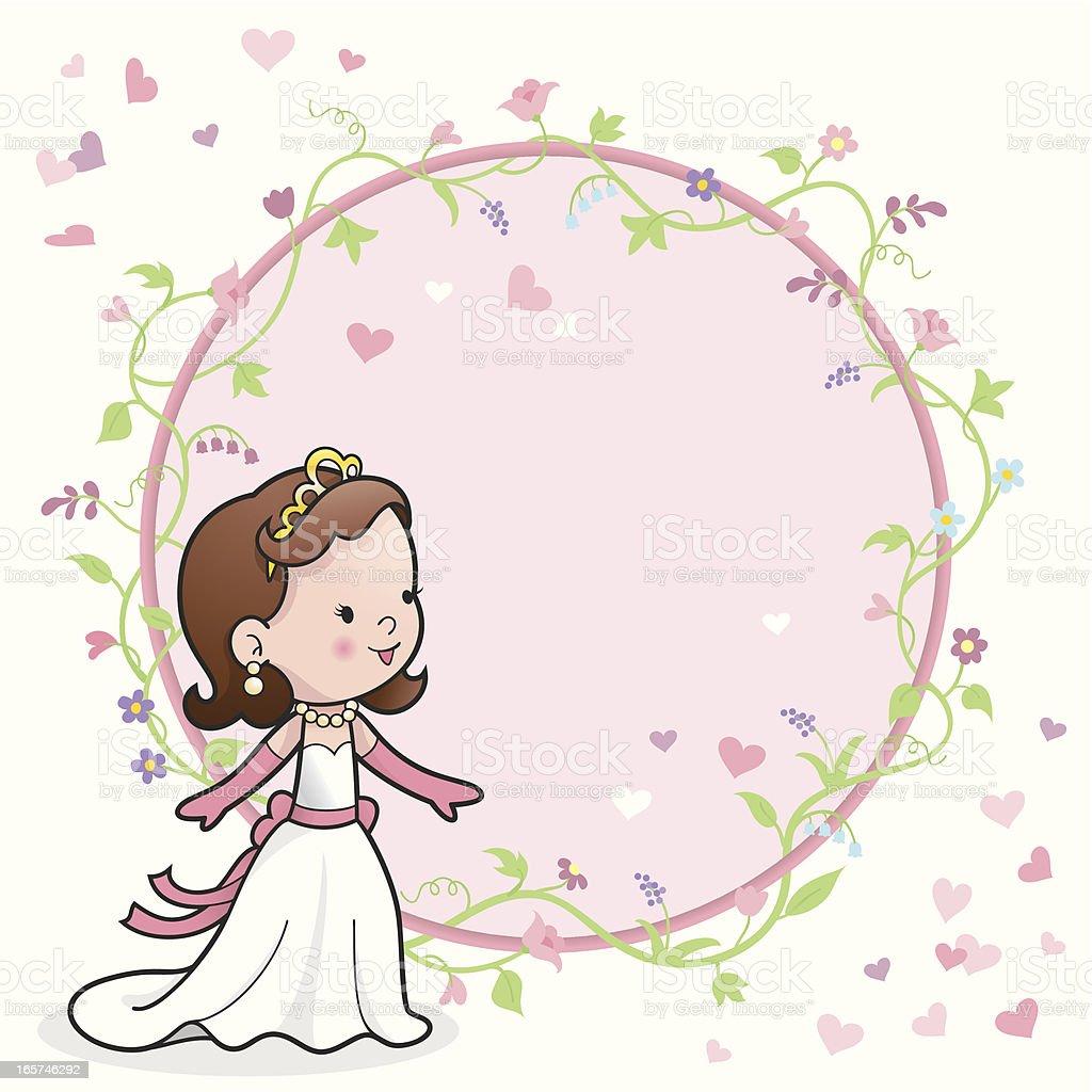 Cute princess romantic card royalty-free stock vector art