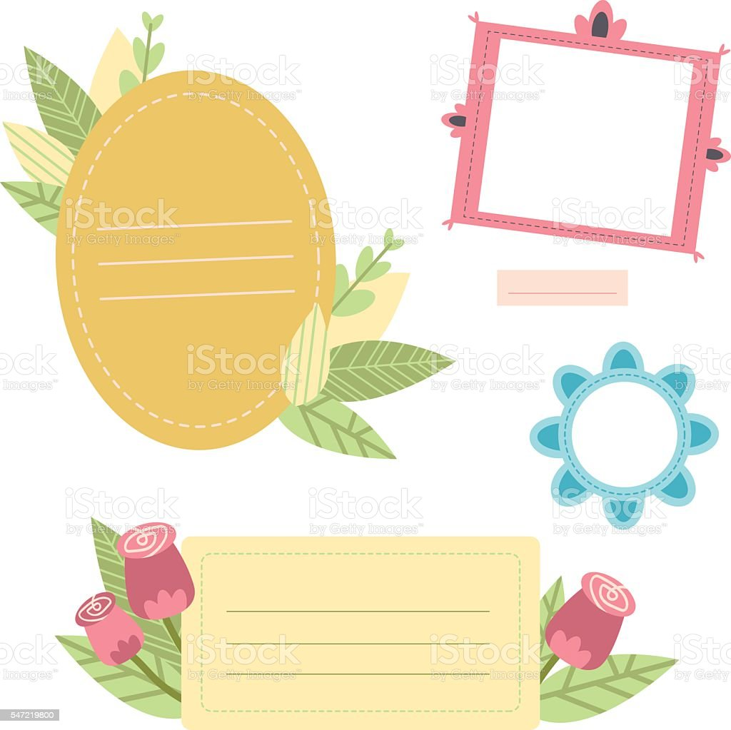 image regarding Printable Journaling Cards identify Adorable Printable Photograph Frames And Journaling Playing cards For Your Design and style Inventory Vector Artwork Even more Shots of Banner - Signal