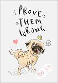 Cute pug slogans