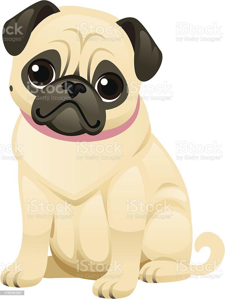 royalty free pug dog clip art vector images illustrations istock rh istockphoto com Pug Clip Art Black and White Black Pug Clip Art