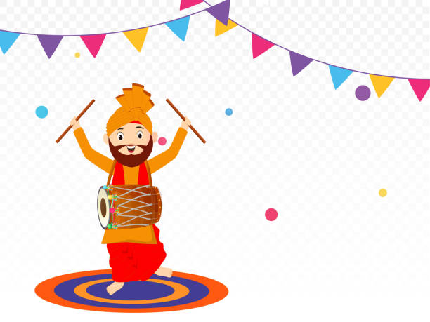 Best Background Of The Bhangra Dress Illustrations ...