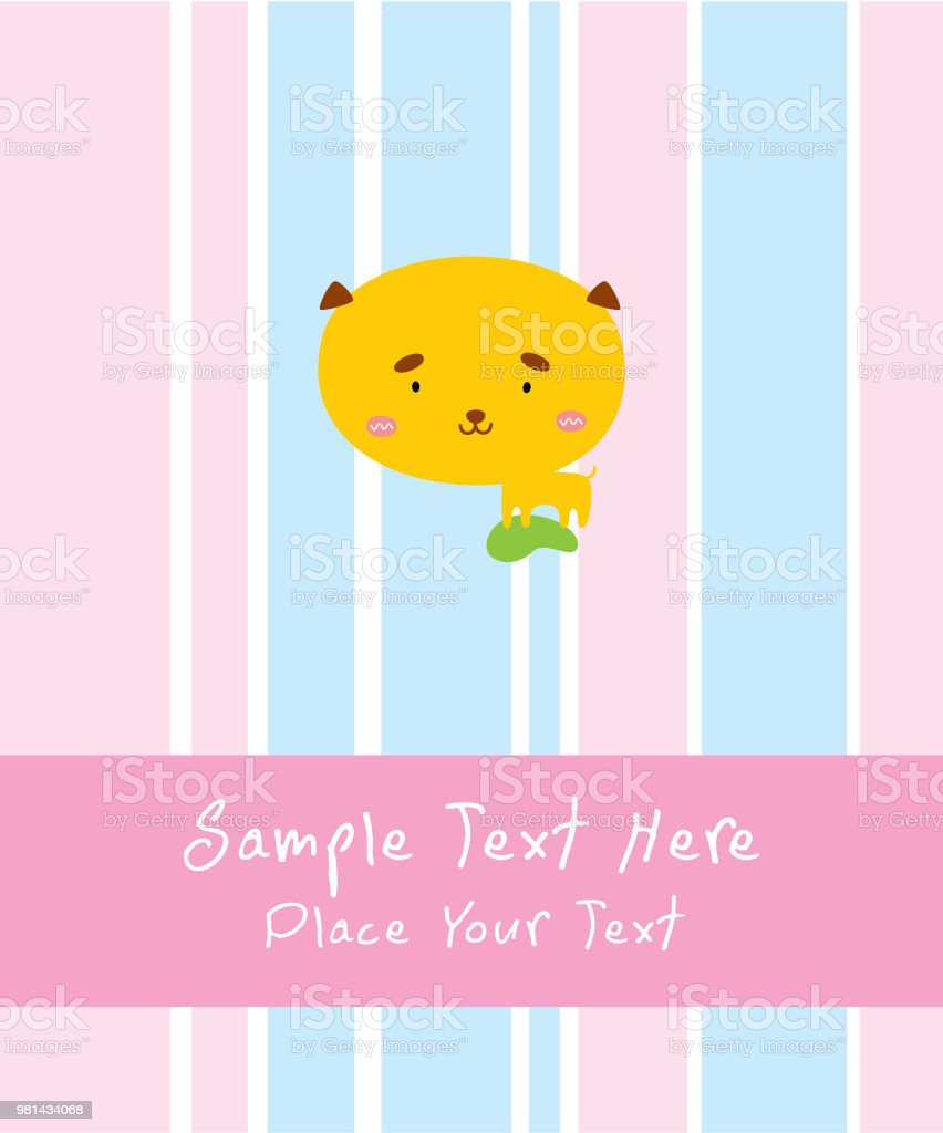 cute puppy baby arrival announcement card stock vector art more