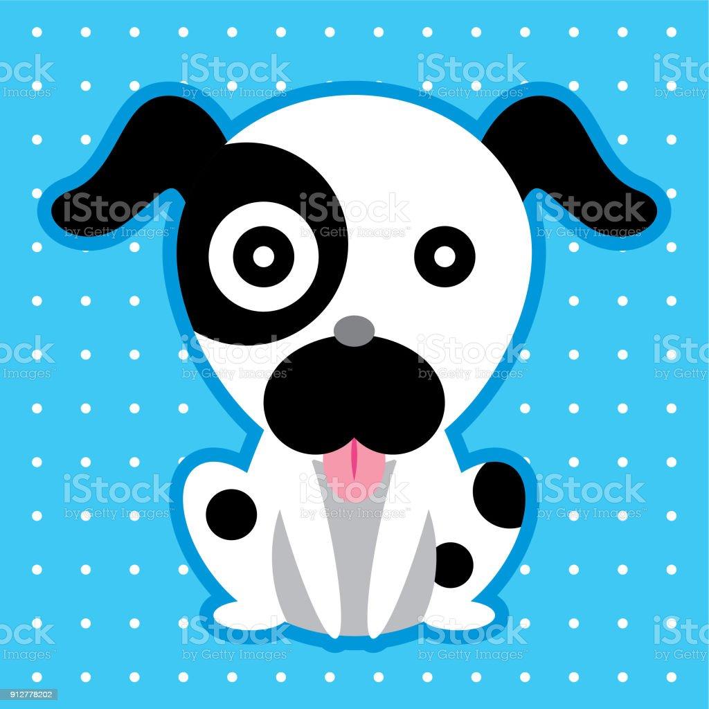Cute Puppy Cartoon Wallpaper Vector Stock Vector Art More Images