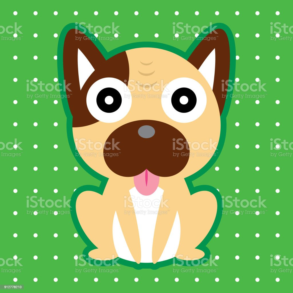 Cute Puppy Cartoon Wallpaper Vector Stock Illustration Download Image Now Istock