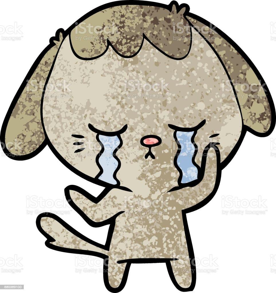 Ilustración De Dibujos Animados Llorando Perrito Lindo Y Más